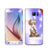 Snooky 48236 Digital Print Mobile Skin Sticker For Samsung Galaxy S6 - Purple