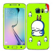 Snooky 48252 Digital Print Mobile Skin Sticker For Samsung Galaxy S6 Edge - Green
