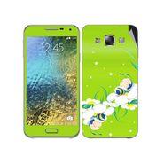Snooky 48281 Digital Print Mobile Skin Sticker For Samsung Galaxy E7 - Green
