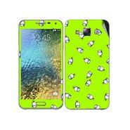 Snooky 48288 Digital Print Mobile Skin Sticker For Samsung Galaxy E7 - Green