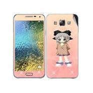 Snooky 48294 Digital Print Mobile Skin Sticker For Samsung Galaxy E7 - Orange