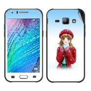 Snooky 48330 Digital Print Mobile Skin Sticker For Samsung Galaxy J1 - White