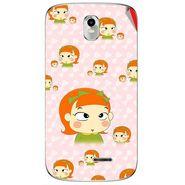 Snooky 48401 Digital Print Mobile Skin Sticker For Lava Iris 402 Plus - Orange