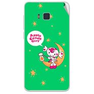 Snooky 48406 Digital Print Mobile Skin Sticker For Lava Iris 406Q - Green