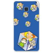 Snooky 48430 Digital Print Mobile Skin Sticker For Lava Iris 406Q - Blue