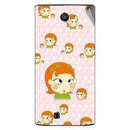 Snooky 48465 Digital Print Mobile Skin Sticker For Lava Iris 456 - Orange