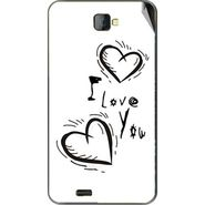 Snooky 48483 Digital Print Mobile Skin Sticker For Lava Iris 502 - White