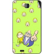 Snooky 48496 Digital Print Mobile Skin Sticker For Lava Iris 502 - Green