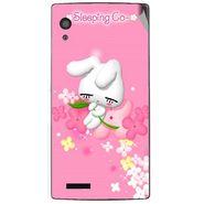 Snooky 48567 Digital Print Mobile Skin Sticker For Lava Iris Fuel 60 - Pink