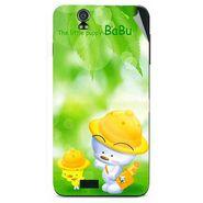 Snooky 48600 Digital Print Mobile Skin Sticker For Lava Iris selfie 50 - Green