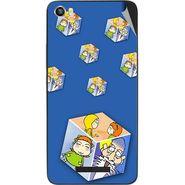 Snooky 48654 Digital Print Mobile Skin Sticker For Lava Iris X8 - Blue