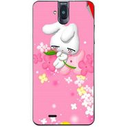 Snooky 48695 Digital Print Mobile Skin Sticker For Lava Iris 550Q - Pink