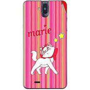 Snooky 48703 Digital Print Mobile Skin Sticker For Lava Iris 550Q - Pink