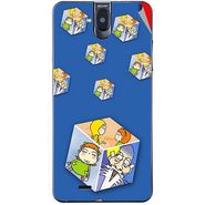 Snooky 48718 Digital Print Mobile Skin Sticker For Lava Iris 550Q - Blue