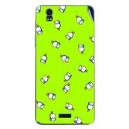 Snooky 48768 Digital Print Mobile Skin Sticker For Lava Iris Pro 20 - Green