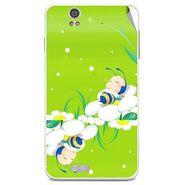 Snooky 48825 Digital Print Mobile Skin Sticker For Lava Iris X5 - Green