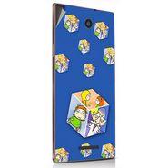 Snooky 48910 Digital Print Mobile Skin Sticker For Lava Magnum X604 - Blue