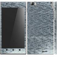 Snooky 18717 Mobile Skin Sticker For Lenovo K900 - Silver
