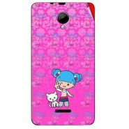 Snooky 42440 Digital Print Mobile Skin Sticker For Micromax Canvas Fun A76 - Pink
