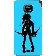 Snooky 42493 Digital Print Mobile Skin Sticker For Micromax Ninja A91 - Blue