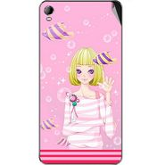 Snooky 42576 Digital Print Mobile Skin Sticker For Micromax Canvas Fire 2 A104 - Pink
