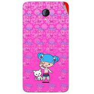 Snooky 42605 Digital Print Mobile Skin Sticker For Micromax Unite 2 A106 - Pink