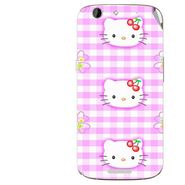 Snooky 42745 Digital Print Mobile Skin Sticker For Micromax Canvas A300 - Pink