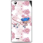 Snooky 42914 Digital Print Mobile Skin Sticker For XOLO A600 - White