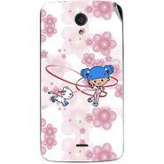 Snooky 42947 Digital Print Mobile Skin Sticker For Xolo Omega 5.0 - White