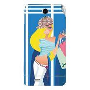 Snooky 43037 Digital Print Mobile Skin Sticker For Xolo Q900 - Blue