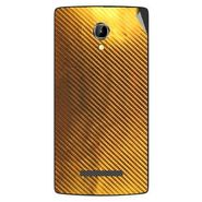 Snooky 43353 Mobile Skin Sticker For Intex Aqua N8 - Golden