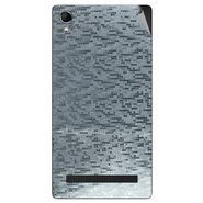 Snooky 43397 Mobile Skin Sticker For Intex Aqua Power Plus - silver