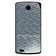 Snooky 43481 Mobile Skin Sticker For Intex Aqua Star Power - silver