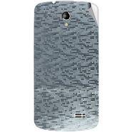 Snooky 43505 Mobile Skin Sticker For Intex Aqua SUPERB - silver