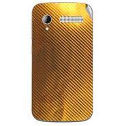 Snooky 43593 Mobile Skin Sticker For Intex Cloud Y12 - Golden