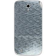 Snooky 43661 Mobile Skin Sticker For Intex Cloud Y4 Plus - silver