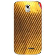 Snooky 43725 Mobile Skin Sticker For Lava Iris 402 Plus - Golden