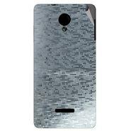 Snooky 43949 Mobile Skin Sticker For Micromax Canvas Fun A74 - silver