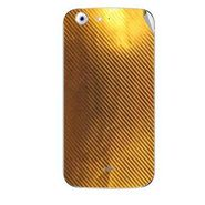 Snooky 44253 Mobile Skin Sticker For Micromax Canvas 4 A210 - Golden