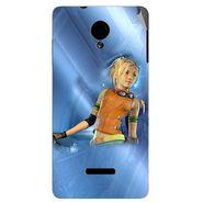 Snooky 45916 Digital Print Mobile Skin Sticker For Micromax Canvas Fun A74 - Blue