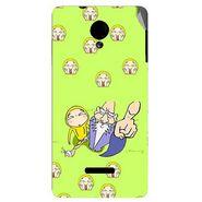 Snooky 45938 Digital Print Mobile Skin Sticker For Micromax Canvas Fun A74 - Green