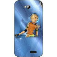 Snooky 45980 Digital Print Mobile Skin Sticker For Micromax Bolt A089 - Blue