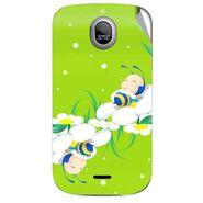 Snooky 46011 Digital Print Mobile Skin Sticker For Micromax Ninja A89 - Green