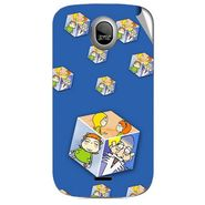 Snooky 46032 Digital Print Mobile Skin Sticker For Micromax Ninja A89 - Blue