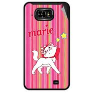 Snooky 46049 Digital Print Mobile Skin Sticker For Micromax Superfone Pixel A90 - Pink