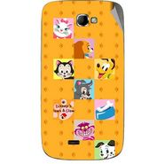 Snooky 46080 Digital Print Mobile Skin Sticker For Micromax Canvas Engage A091 - Yellow