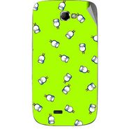 Snooky 46082 Digital Print Mobile Skin Sticker For Micromax Canvas Engage A091 - Green