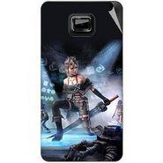 Snooky 46109 Digital Print Mobile Skin Sticker For Micromax Ninja A91 - Blue