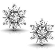 Avsar Real Gold and Swarovski Stone Kanika Earrings_Ave009wb