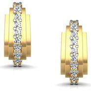 Avsar Real Gold and Swarovski Stone Sachi Earrings_Ave013yb